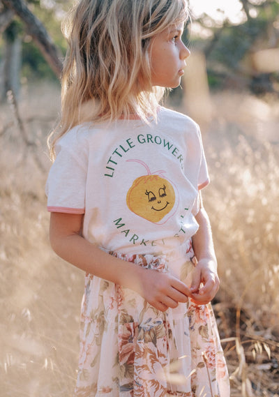 Little Growers Ringer Tee White - Little Auguste