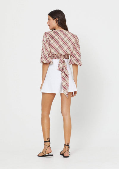 Sloane Hayley Blouse Plum - Auguste The Label