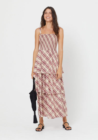 Sloane Lise Maxi Dress Plum - Auguste The Label