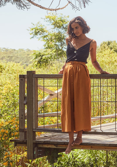 Leigh Midi Skirt Saffron - Auguste The Label
