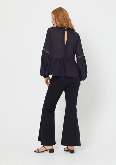 Quinn Flare Pant Black - Auguste The Label