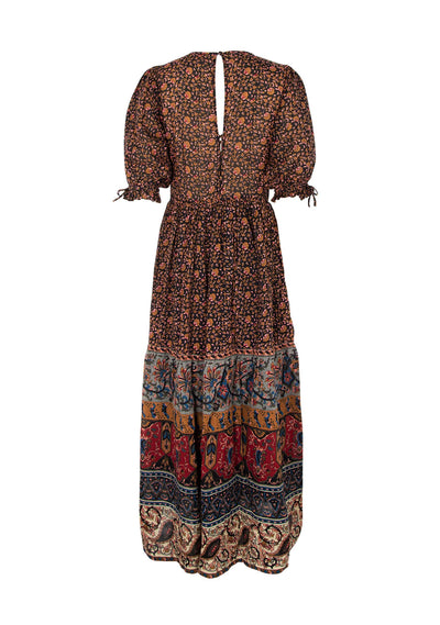 Bohemian Azalea Maxi Dress Black - Auguste The Label