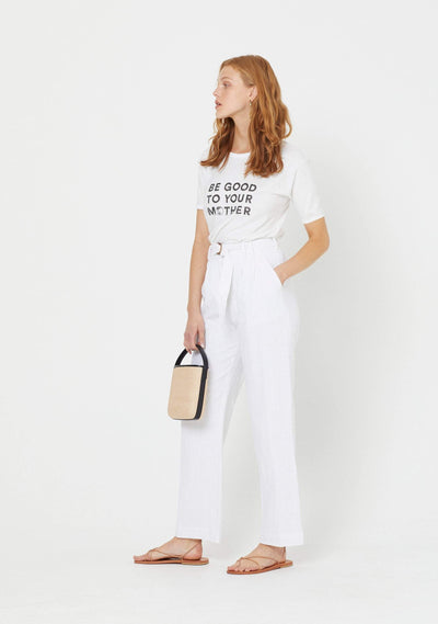Be Good Ringer Tee White - Auguste The Label