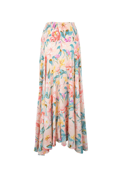 Posie Shirred Waist Maxi Skirt Blush - Auguste The Label