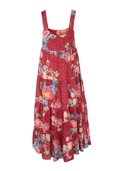 Gisele Mabel Maxi Dress Wine - Auguste The Label