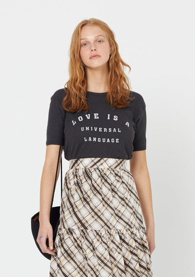 Love Ringer Tee Washed Black - Auguste The Label