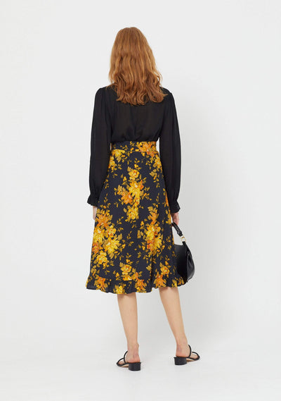 Devon Gia Midi Skirt Black - Auguste The Label