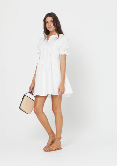 Mara Mini Dress White - Auguste The Label