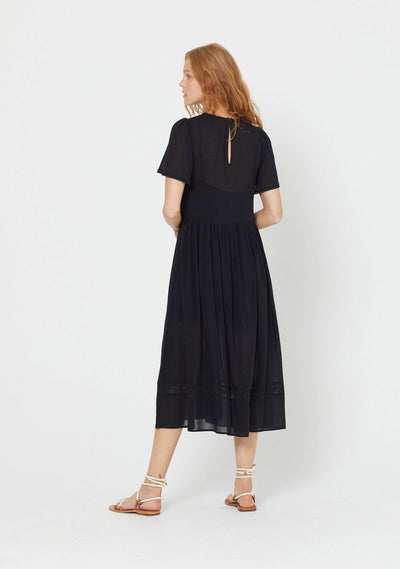 Elliott Midi Dress Black - Auguste The Label