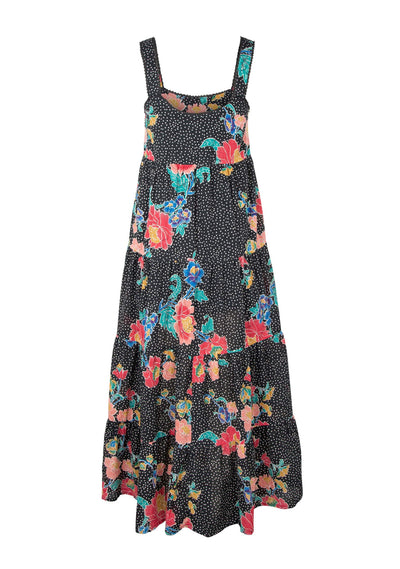 Gisele Mabel Maxi Dress Charcoal - Auguste The Label