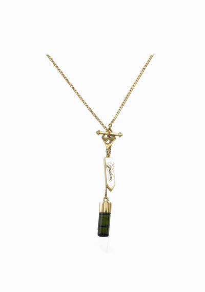 TIGER FRAME Black Tourmaline Necklace