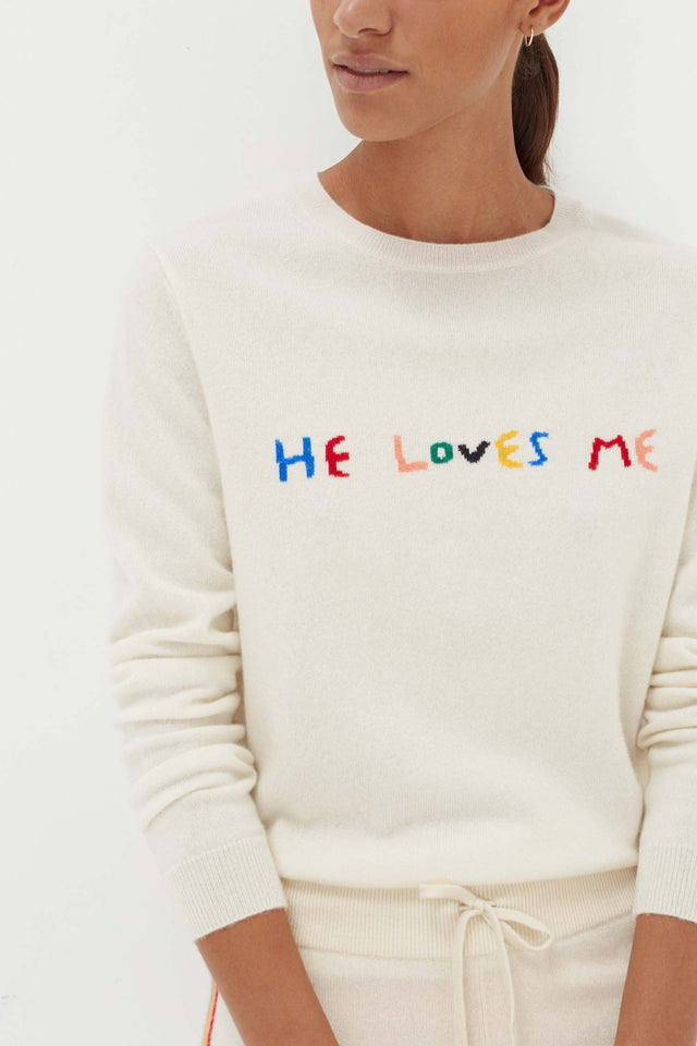 Cream Cashmere He Loves Me Sweater image 1