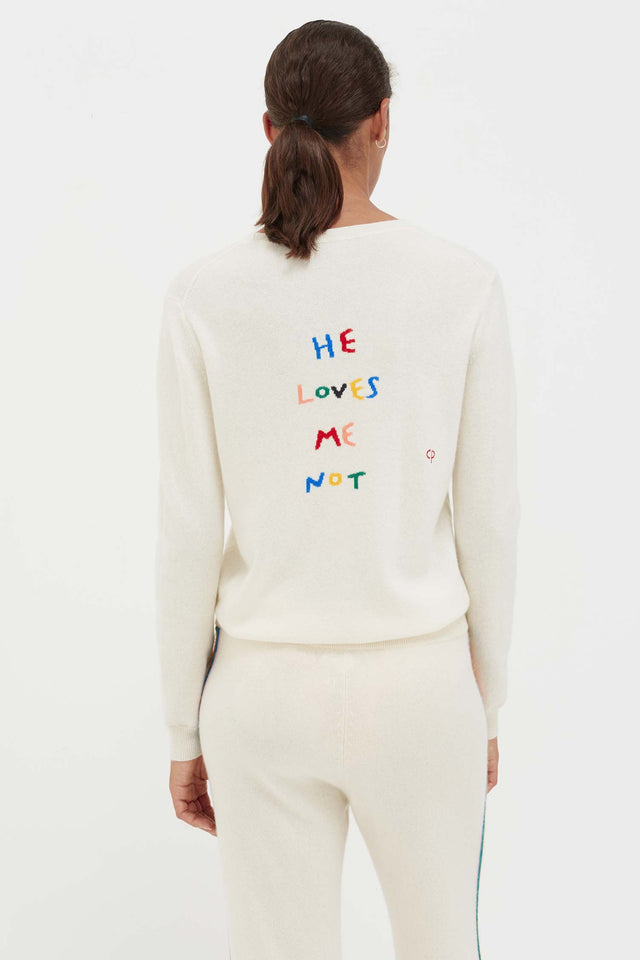 Cream Cashmere He Loves Me Sweater image 4
