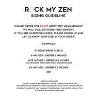 Rock My Zen sizing guidelines for bracelets