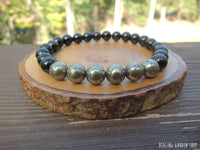 Pyrite and Black Obsidian for Confidence