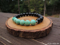 Amazonite and Onyx for Protection by RockMyZen.com
