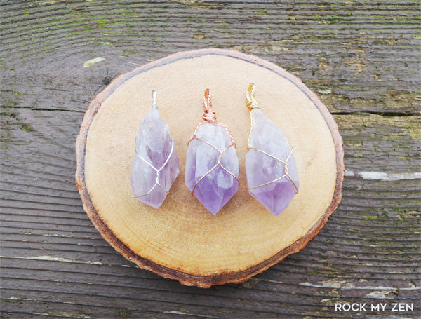 Brazilian Amethyst Point Pendant by Rock My Zen