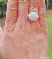 Wirewrapped Blue Lace Agate ring by RockMyZen.com