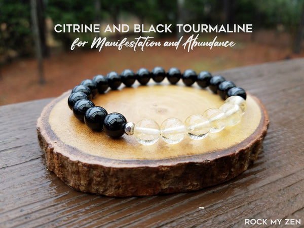 Citrine and Black Tourmaline for Abundance and Manifestation by Rock My Zen