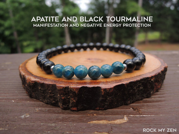 Apatite and Black Tourmaline for Protection by RockMyZen.com