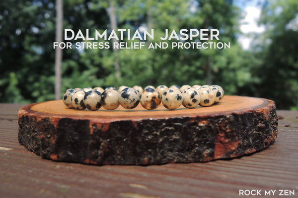 Dainty Dalmatian Jasper for Stress Relief and Negative Energy Protection by Rock My Zen