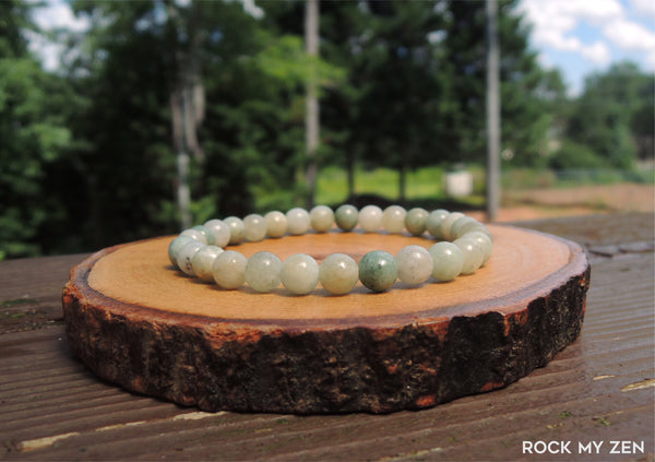 Dainty 6mm Jade Bracelet by Rock My Zen