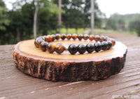Dainty Obsidian and Tiger Eye for Negative Energy Protection by Rock My Zen