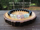 Mercury in Retrograde Bracelet and Candle Bundle by Rock My Zen