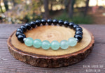 Green Aventurine and Black Tourmaline Bracelet for Prosperity and Luck