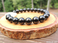 Ivory Howlite Elephant and Black Onyx Bracelet for Focus and Concentration by Rock My Zen