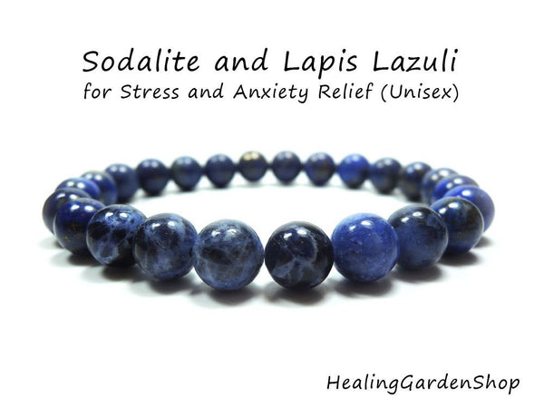 Dainty Sodalite and Lapis Lazuli for Stress and Anxiety Relief