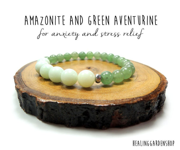 African Amazonite and Green Aventurine for Stress and Anxiety Relief