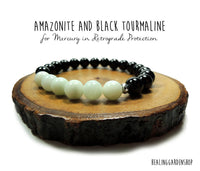 Mercury in Retrograde Protection with Amazonite and Black Tourmaline