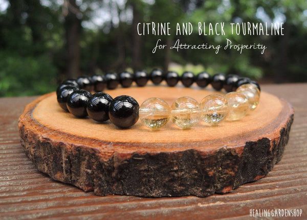 Citrine and Black Tourmaline for Abundance