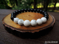 Howlite and Black Onyx  for Focus and Concentration