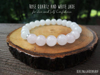 White Jade and Rose Quartz for Love
