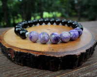 Charoite and Black Tourmaline Bracelet for Empath Protection