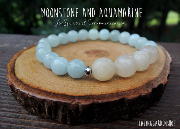 Spiritual Communication with Moonstone and Aquamarine