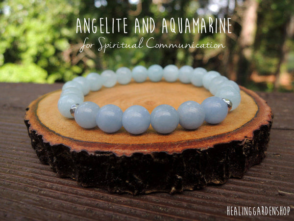 Spiritual Communication with Angelite and Aquamarine