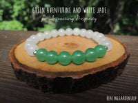 Green Aventurine and White Jade for Prosperity and Luck