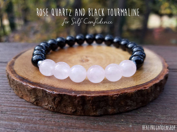 Rose Quartz and Black Tourmaline for Love