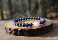 Dainty Blue Lace Agate and Lapis Lazuli for Stress and Anxiety Relief