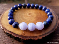Blue Lace Agate and Lapis Lazuli for Stress and Anxiety Relief