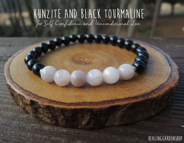 Kunzite and Black Tourmaline for Love and Self Confidence