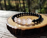 Rose Quartz Coins and Black Tourmaline