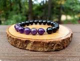 Amethyst and Black Tourmaline for Empath Protection