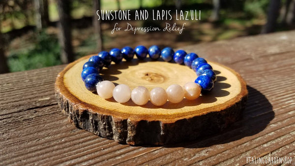 Sunstone and Lapis Lazuli for Positive Energy