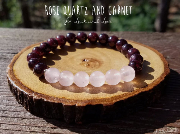 Rose Quartz and Red Garnet for Love