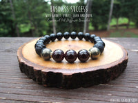 Red Garnet, Pyrite, Lava and Black Onyx for Business Success