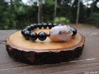 Dendritic Opal and Black Tourmaline for Self Confidence